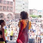 Insbesondere nach dem schönen Auftritt von zwei Kindern der Deutschen Jugend aus Russland. Foto: David Wedmann / FJR