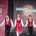 Zwischen 12:30 und 14:00 Uhr sowie von 16 bis 20 Uhr fanden auf der Römerbühne Auftritte von insgesamt Gruppen aus Kindern, Jugendlichen und jungen Erwachsenen. Foto: David Wedmann / FJR