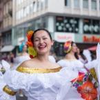 Mit guter Laune durch die Frankfurter Innenstadt. Foto: David Wedmann / FJR