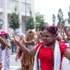 Der Verein gehört zu den treuesten Gruppen der Parade. Die Jugendlichen hatten dieses Jahr auch einen Auftritt auf der Römerbühne. Foto: David Wedmann / FJR